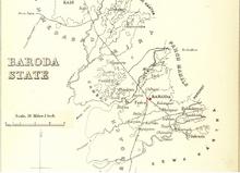 Baroda mapa 1896