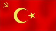 Communist flag of turkey