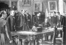 Firma del Acta de la Alianza de las Américas 1848
