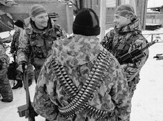 Российские солдаты на улицах Грозного
