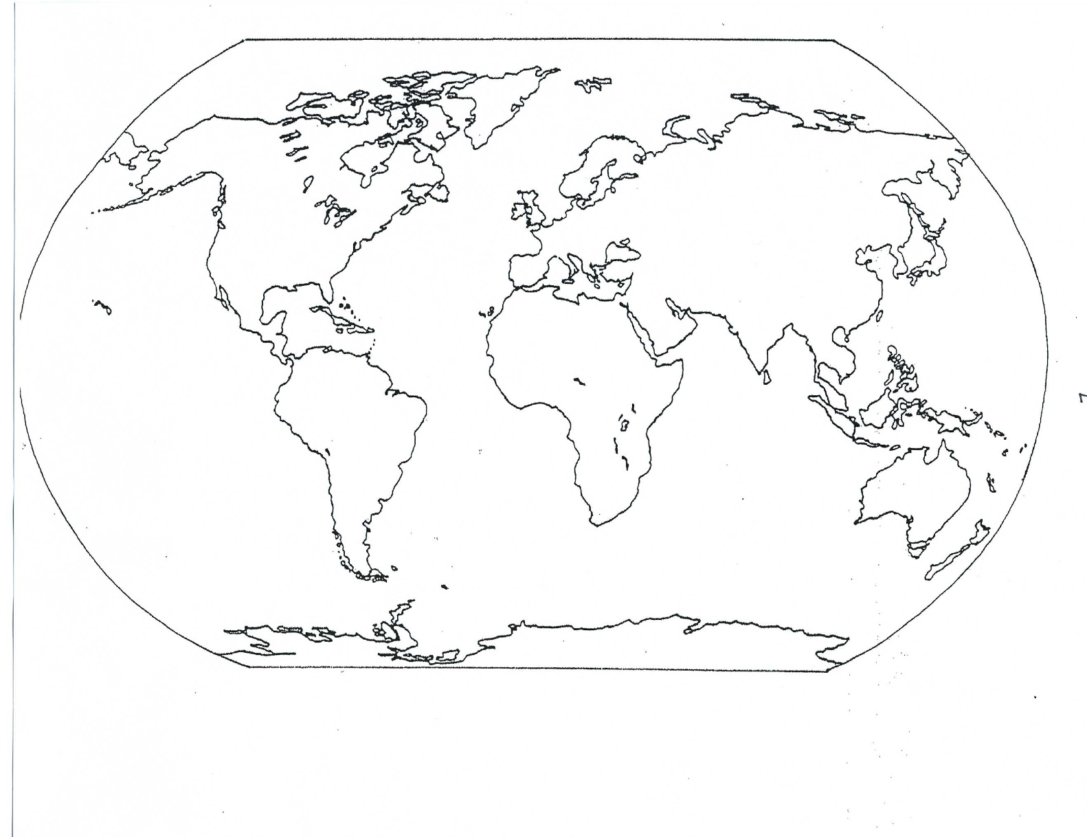 Blank Physical World Map Printable Image - BLANK WORLD MA...
