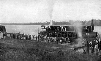Немецкий корабль на реке Конго