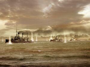 Русский флот в Цусимском проливе