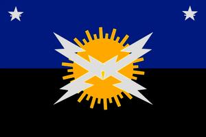 Bandera del Estado Federal Bolivariano Autónomo del País de la Tierra del Sol Amada del Zulia