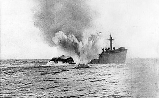 File:Torpedoed merchant ship.jpeg
