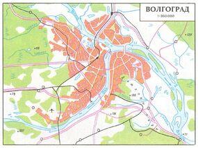 Волгоград карта