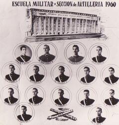 Juan Carlos Stack Escuela Militar Sección de Artillería 1960