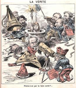 Карикатура на дело Дрейфуса
