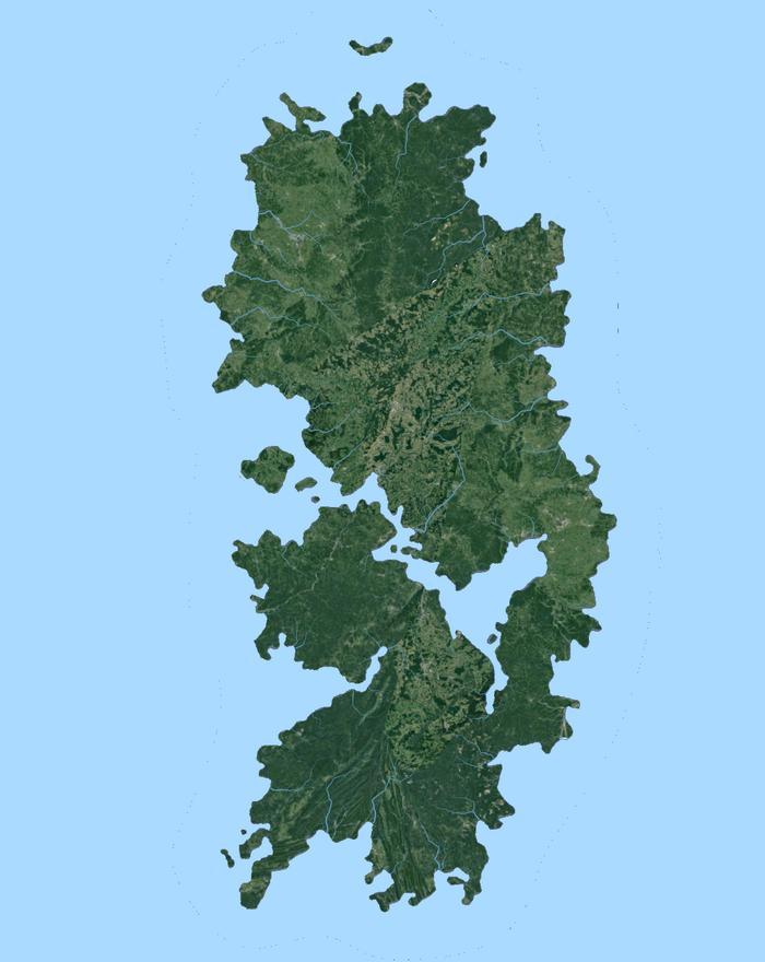 Escadian Topology (Atlantic Ocean Islands)