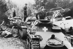 German tanks and General Guderian near Úterý (WFAC)