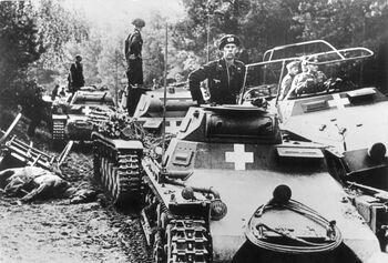 German tanks and General Guderian near Úterý (WFAC)
