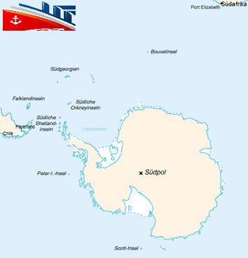 Antarctica Karte