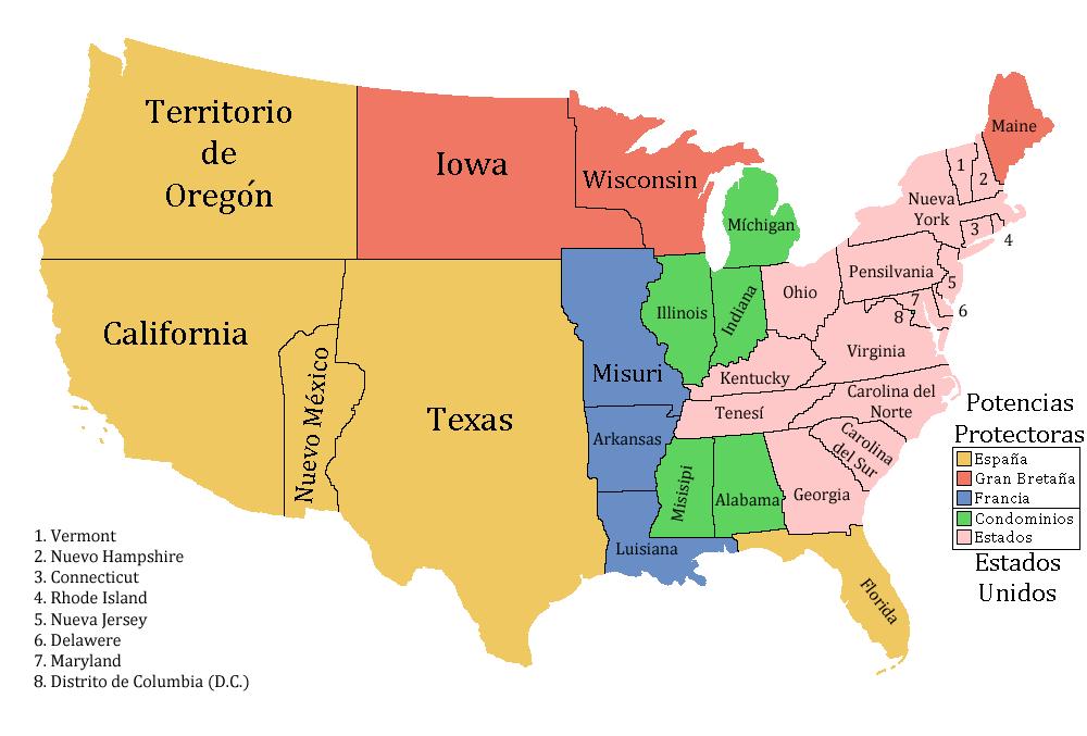 Image División De Estados Unidos Viva La Pepapng - Map of us in 1848