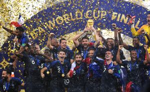 France champion of the Football World Cup Russia 2018