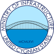Seal of the Cygnian Ministry of Infrastructure