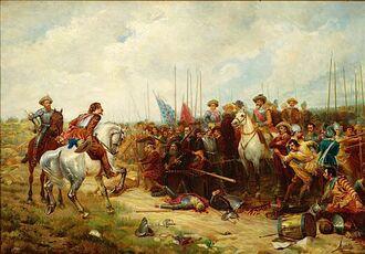 Сражение французов и спанцев
