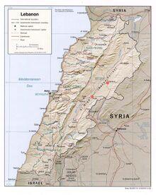 1983DD Lebanon Map