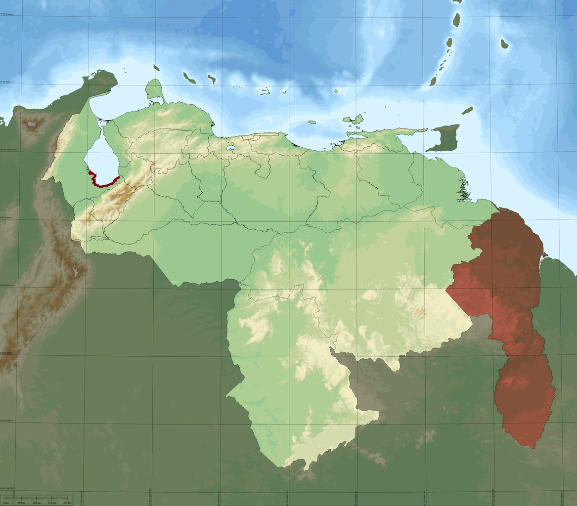 Image - Venezuela Topographic South Lake Maracaibo Highlighted.png ...