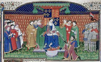 Генри VI на троне