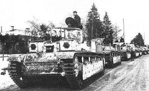 Т-28 идут на Зимнюю войну