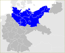 Map of new german empire