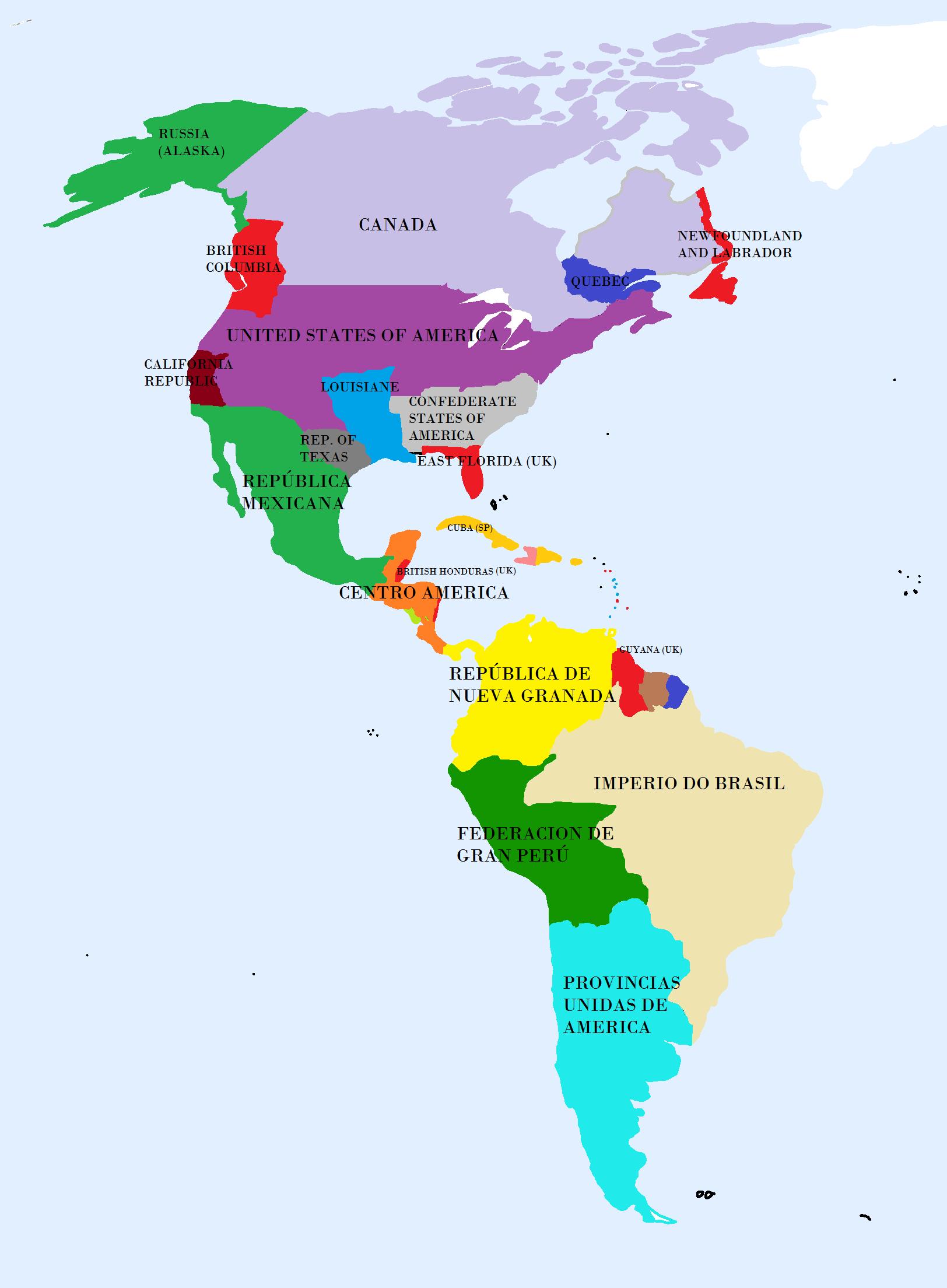 America Unida Y Dividida Alternative History FANDOM Powered - Mapa de united states