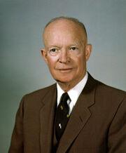 Dwight D Eisenhower, White House photo portrait