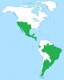 Mapa Alianza de las Américas 1848