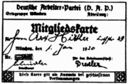 Member of DAP Hitler