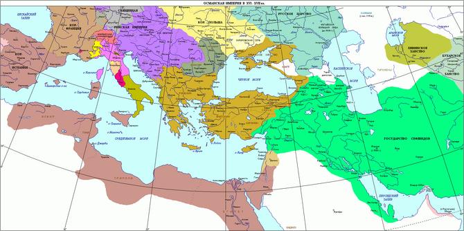 Раздел Османской импери
