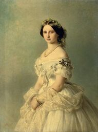1857 Luise of Prussia, Princess of Baden by Franz Xaver Winterhalter