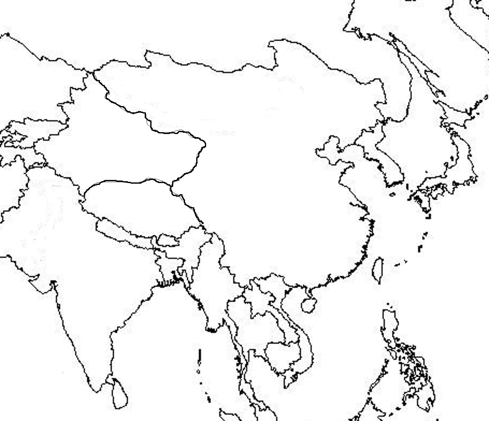 Image Asiaoutlineblankmapjpg Alternative History FANDOM - Blank map of asia