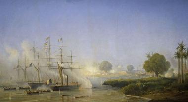 Французские корабли в Сайгоне