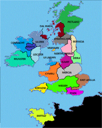 Map Of England 600 Ad.British Kingdoms Alternative History Fandom