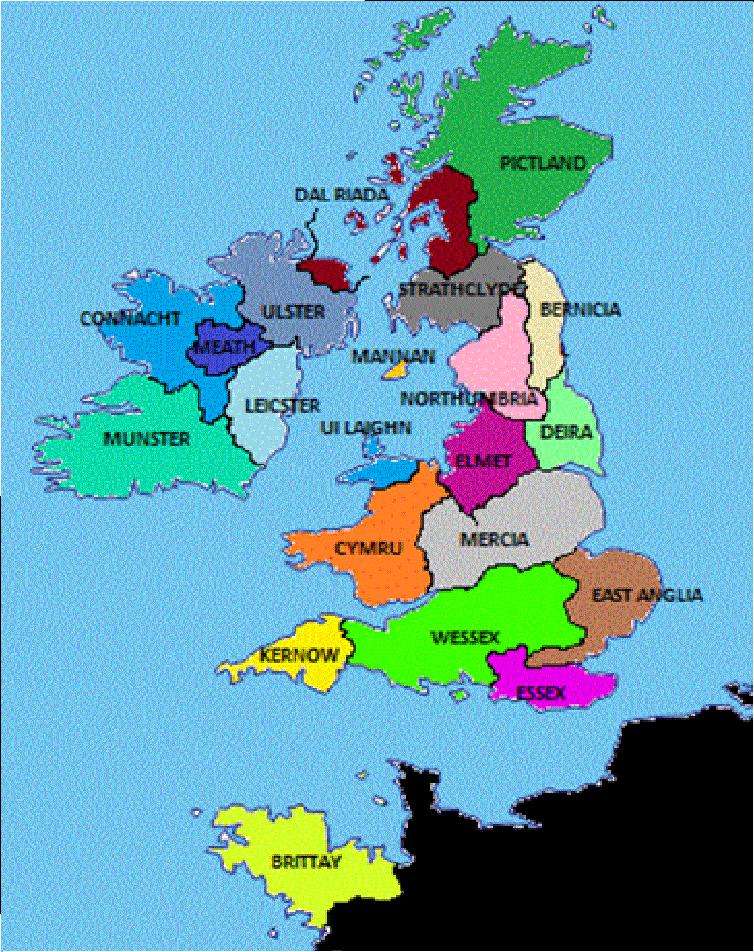 Map Of England 600 Ad.British Kingdoms Alternative History Fandom Powered By Wikia