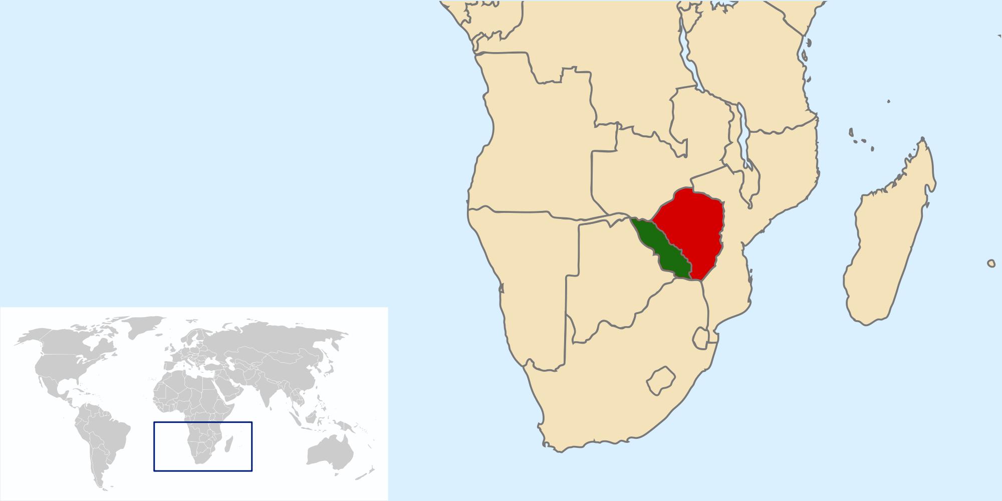 North Zimbabwe Doomsday Alternative History FANDOM - Republic of zimbabwe map