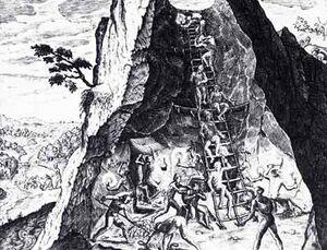 Sklaven im Bergbau Südamerika