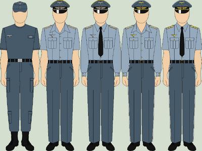 Die luftwaffe everyday uniforms summer