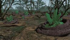 Tiberium deposits seen in Command & Conquer (1995)
