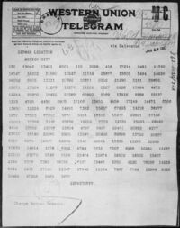 Zimmermann Telegram as Received by the German Ambassador to Mexico - NARA - 302025