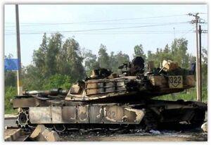 Подбитый американский танк