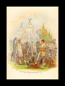 George Catlin painting Native American chief