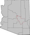 Arizona Senatorial Election Results by County, 2010.png