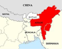 Assam mapa