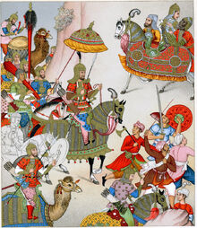 Babur setting out with his army