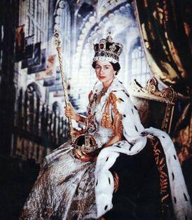 Isabel II coronada