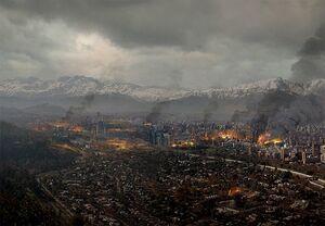 Santiago bombardeado