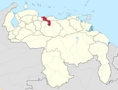 Ubicación del Estado Aragua (CNS)