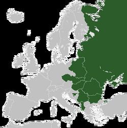 Карта восточоевропейского союза
