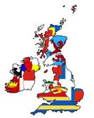 Britannia with Flags